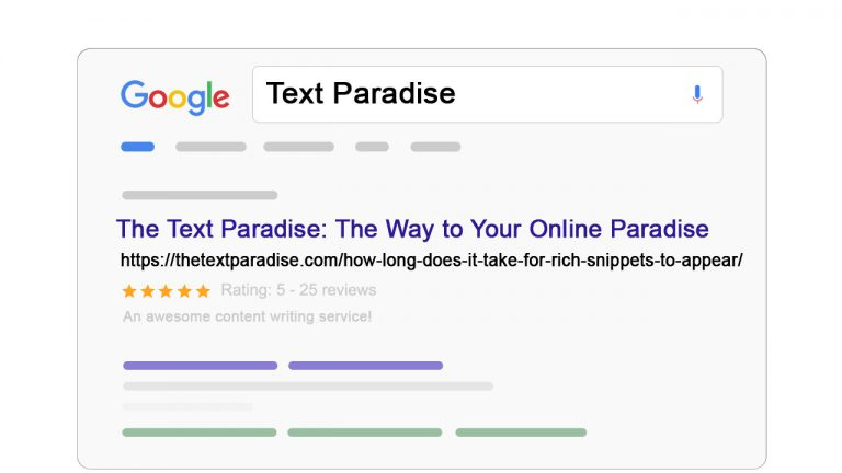 How Long Does It Take For Rich Snippets To Appear?