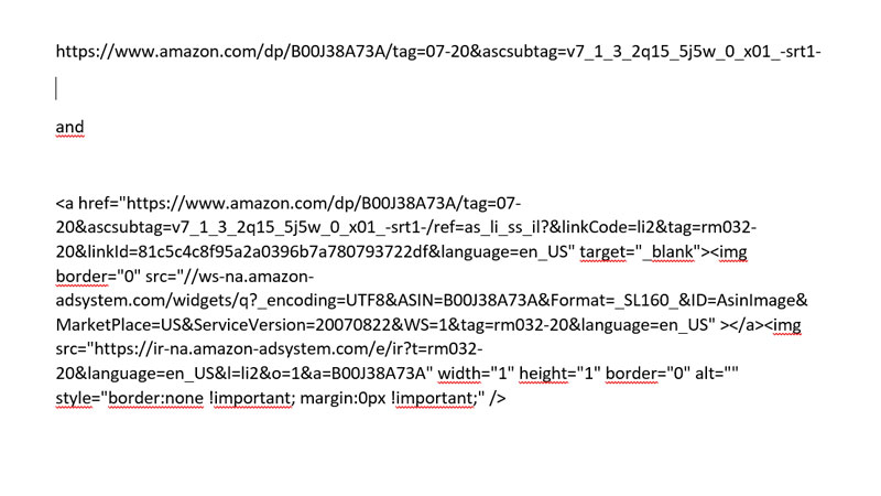 What Does An Amazon Affiliate Link Look Like?