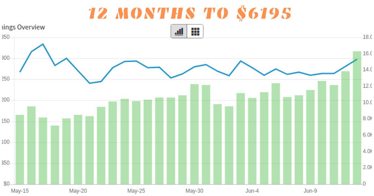 [CASE STUDY] How We Built a 12-Month-Old Site to $6195 a Month!